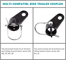 Bike Bicycle Trailer Coupler Attachment Angled Elbow for Instep