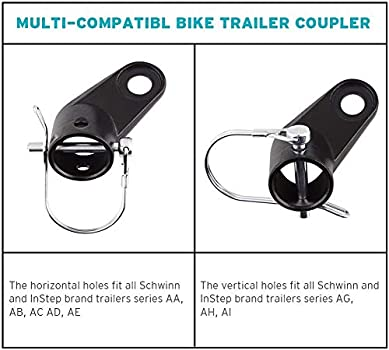 Bike Bicycle Trailer Coupler Attachment Angled Elbow for In-Step Schwinn
