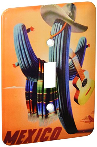 3dRose LLC lsp_60670_1 Mexican Travel Poster Single Toggle Switch by 3dRose