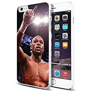 Floyd Mayweather the Champion, Boxing, Boxer,Cool iphone 6 Smartphone Case Cover Collector iphone TPU Rubber Case White