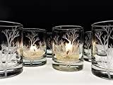 Cheap Tree Branch Candle Holders Engraved Glass Wedding Favors Holiday Table Decor Woodland Votive Holders