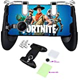 Mobile Game Controller for Fortnite & PUBG Compatible with iPhone/Android Phones 4.5'-6.5' Sensitive Shoot/Aim Triggers Mobile Joystick Gaming Grip Extra Mouse & Cleaning Cloth Included.