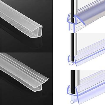 1M 6-12Mm F U Shape Glass Door Sealing Strips Silicone Rubber Window Glass Seal Strip Bath Screen Door Weatherstrip@F/_6Mm