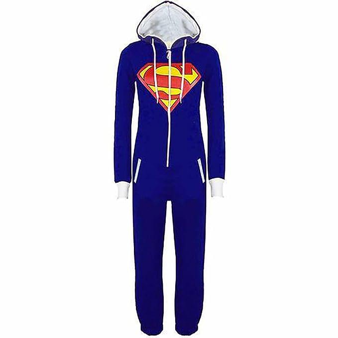 Unisex Pajamas Batman Superman Cosplay Costume Pajama Adult Jumpsuit