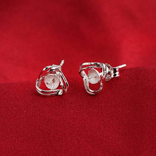 Stud Earring Finding 925 Sterling Silver Pearl Settings CD9EM149