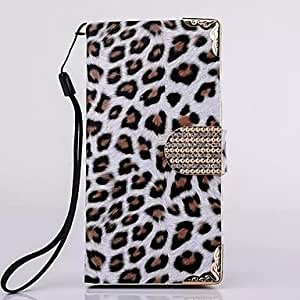 YULIN 5.5 Inch Electroplate Leopard Pattern Flip Wallet Leather Cover for iPhone 6 Plus(Assorted Colors) , White