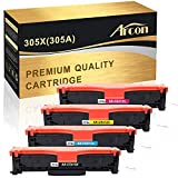 Arcon Compatible Toner Cartridge Replacement for HP 305A 305X CE410X CE411A CE412A CE413A for Laserjet Pro 400 Color MFP M451dn M451nw M475dn M475dw M451dw M375nw (Black, Cyan, Magenta, Yellow)