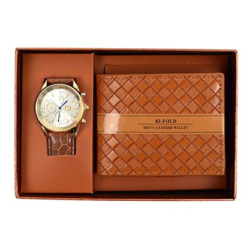 Wrist Watch Bifold Leather Wallet