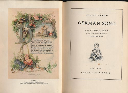 German Song With 4 Plates in Colour & 41 in Black and White Illustrations