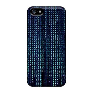 Mialisabblake Perfect Tpu Case For Iphone 5/5s/ Anti-scratch Protector Case (blue Matrix) by Maris's Diary