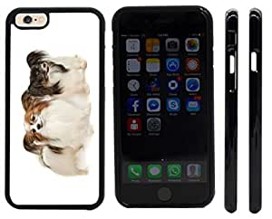 Rikki KnightTM Two Papillion Dogs Design iPhone 6 Case Cover (Black Rubber with front bumper protection) for Apple iPhone 6 by supermalls