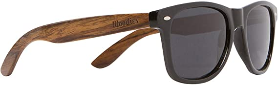 Wooden Sunglasses with Black Polarized Lens in Walnut Wood WOODIES