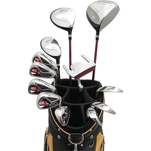 WORLD GOLF(ワールドゴルフ) ワールドイーグル WE 510 メンズクラブセット【右用-R】+【ブラック/サンオレンジ】WE CBX007 カートバック  510MRH-R+cbx007 B01G4QOWNE