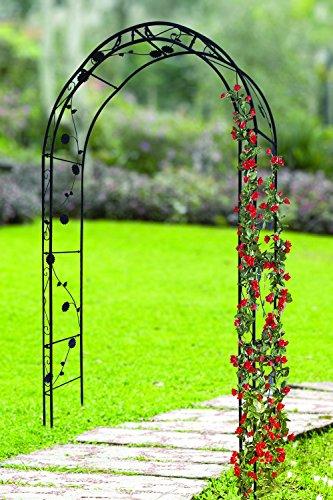 FRESH AIR FOREVER Elegant Metal Garden Arch Trellis, Plant Arches, Pergola Arch for Wedding, Garden (Cast Iron Pergola)