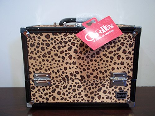 Caboodles Inspired Train Case (Cheetah) (Hair Stylist Carrying Case)