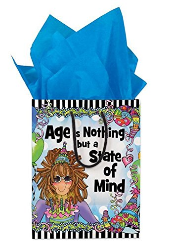 Brownlow Gifts Suzy Toronto Gift Bag with Tissue, State of Mind