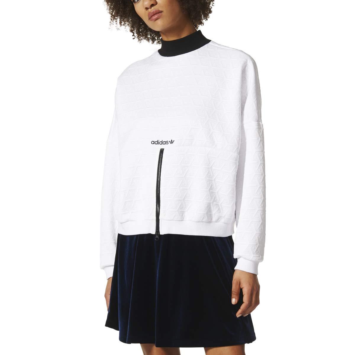 Adidas Zip Through Sweatshirt Womens Style: BR0295-WHITE Size: XS