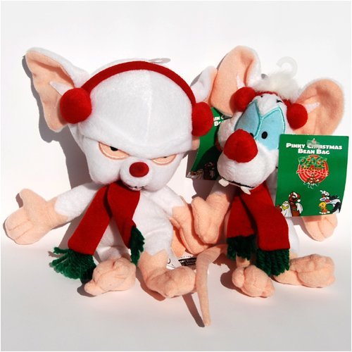 Pinky and the Brain Holiday Set - Warner Bros Bean Bag Plush
