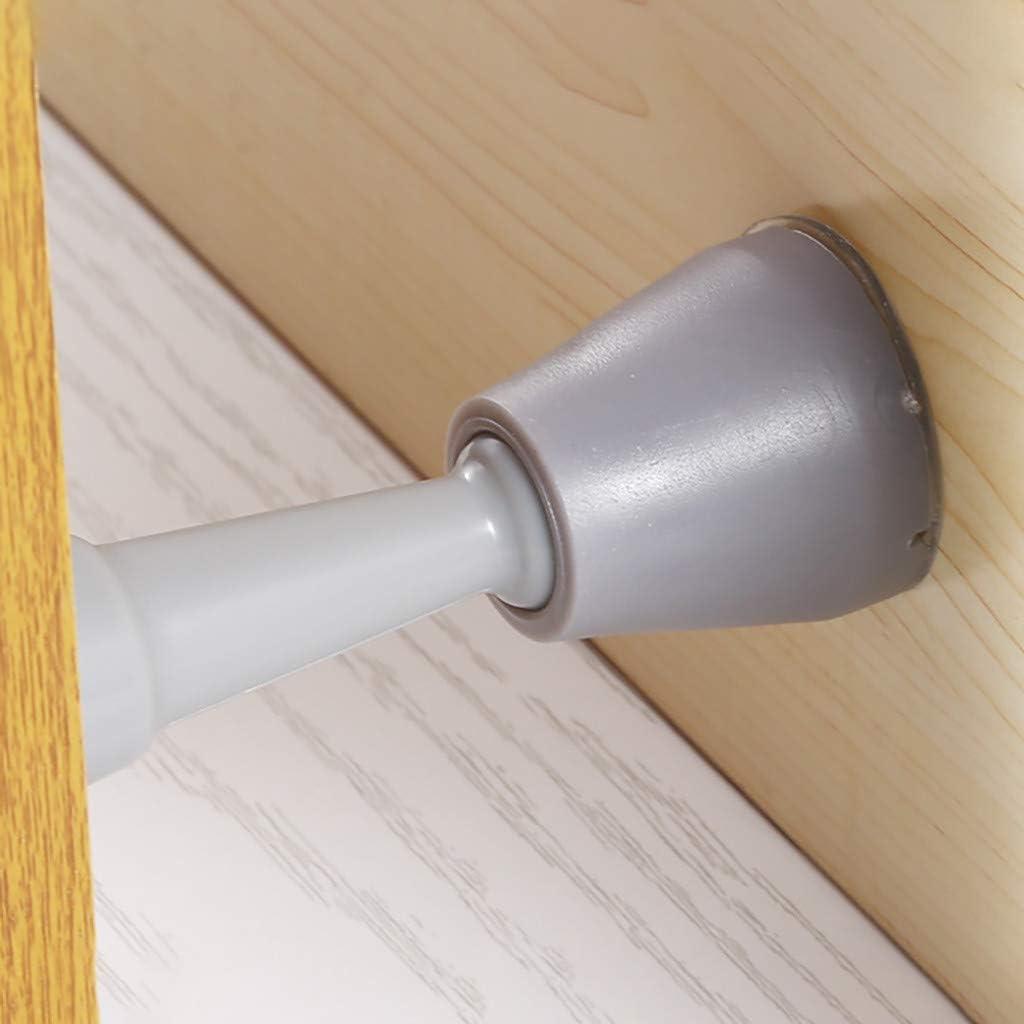 uxcell Rubber Door Stopper Security Floor Wedge Anti-Slip Doorstop 2.55-inch Height Clear Blue 2pcs