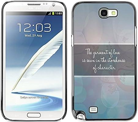 KIKI-Tech Carcasa para Samsung Galaxy Note 2 - la prenda de amor ...