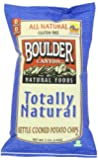 Boulder Canyon Totally Natural Kettle Cooked Potato Chips Gluten Free, 5-ounce Bags (Case of 12)