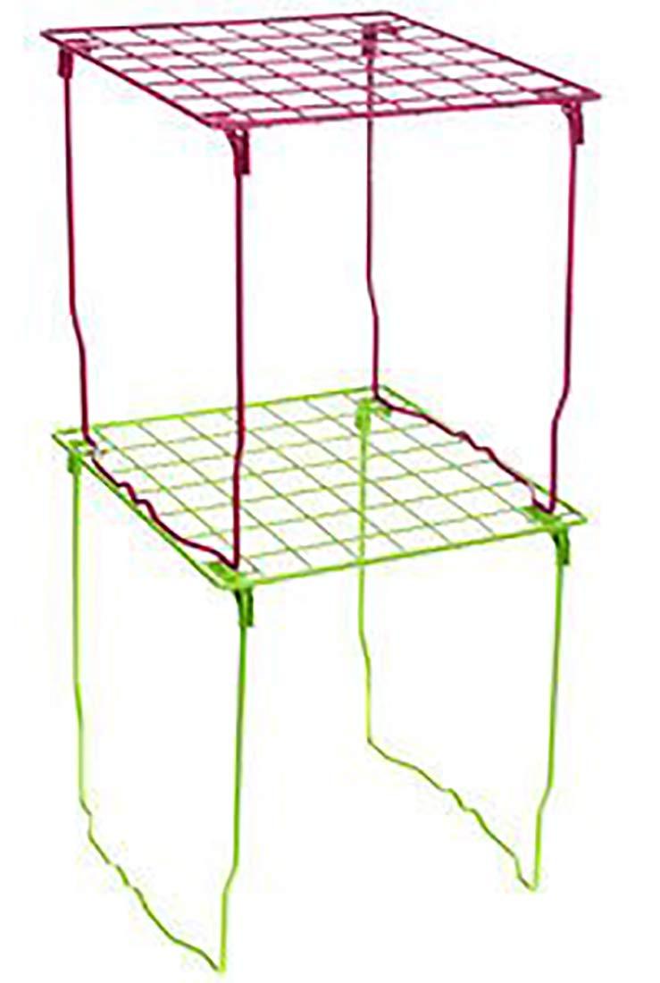 Amazon.com: Rosa alambre clóset estante apilables por ...