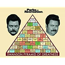 Parks and Recreation Ron Swanson Pyramid Workplace Comedy TV Television Show Framed Poster Print, Unframed 11x14