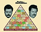 #8: Parks and Recreation Ron Swanson Pyramid Workplace Comedy TV Television Show Framed Poster Print, Unframed 11x14