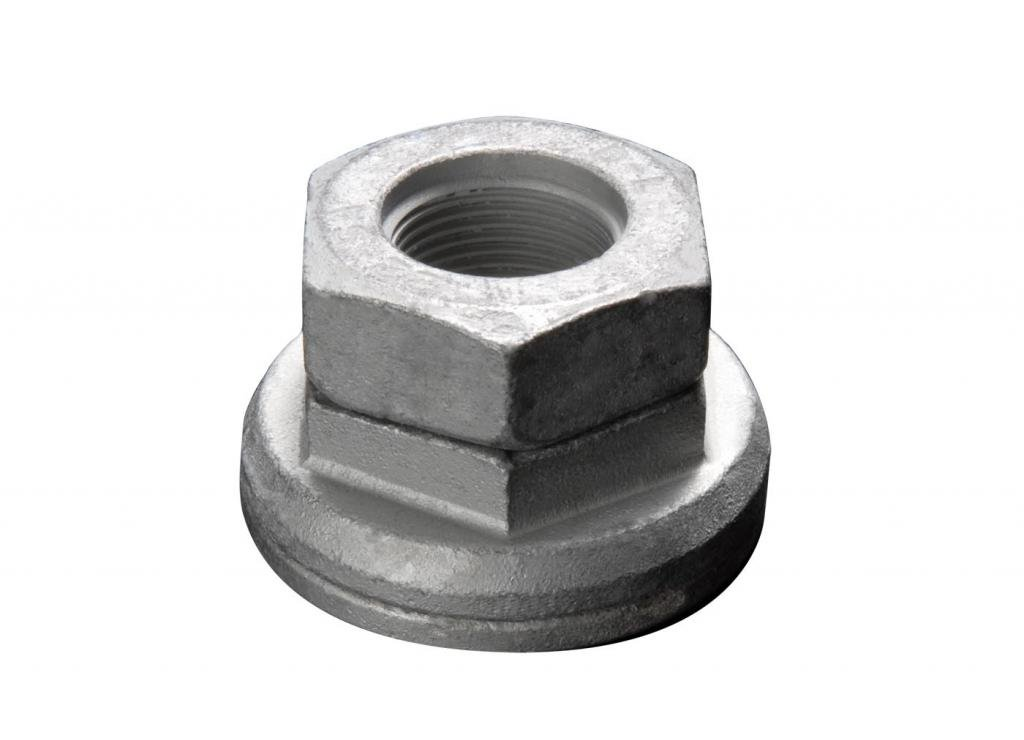 10 Pack Class: 10.9 Disc-Lock Steel Hex Flange Vibration Proof Safety Wheel Nut Thread Size M18 x 1.5