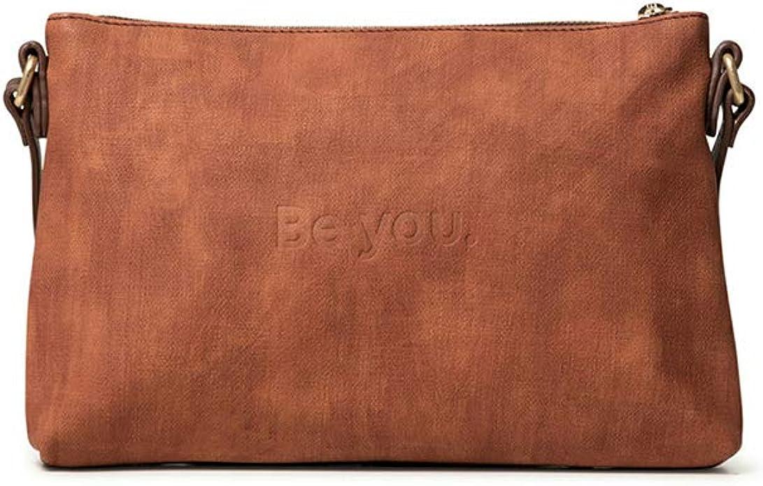 Desigual Durban Across Body Bag Umhängetasche Tasche Cognac Braun Orange