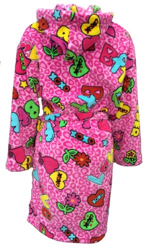 BFF Best Friends Forever Theme Fuzzy Furry Super Soft with 2 Pockets and Belt Robe (10/12)