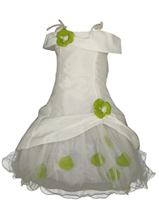 Robe de mariee ivoire et vert anis