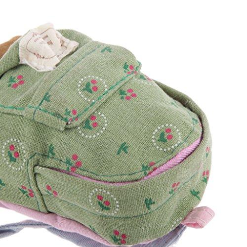 Baoblaze 1: 6 Puppenhaus Miniatur Rucksack Schultasche Puppentasche Puppenzubehör - Blau Grün lhLApK
