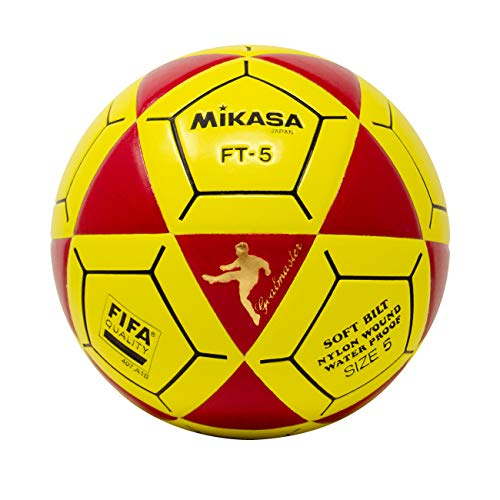(Mikasa FT5 Goal Master Soccer Ball, Red/Yellow, Size 5)