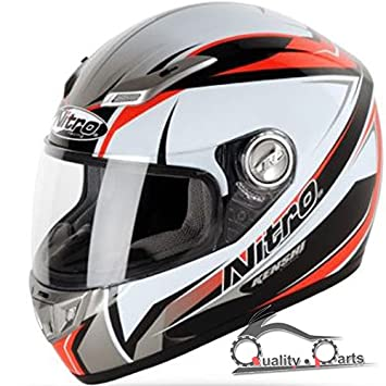 Nitro Kenshi Fibra de vidrio cara completa casco de motocicleta Moto Sharp 5 Star ACU