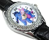 Happy New Year Gifts USFS293 New Leather 118 Diamond Crystal Watch / Disney Eeyore and Piglet