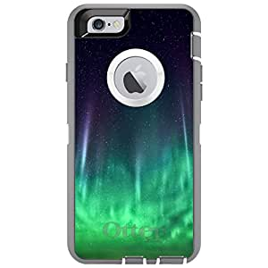"CUSTOM Glacier OtterBox Defender Series Case for Apple iPhone 6 (4.7"" Model) - Aurora Borealis Northern Lights"