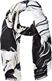 Calvin Klein Women's Striped Floral Print Pashmina, Latte, One Size