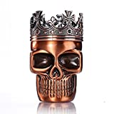 LIHAO Herb Spice Coffee Grinder Crown Skull - Red Bronze