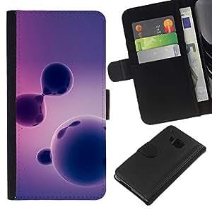 All Phone Most Case / Oferta Especial Cáscara Funda de cuero Monedero Cubierta de proteccion Caso / Wallet Case for HTC One M7 // Purple Pattern