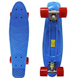 """Rimable Complete 22"""" Skateboard (Blue & Red)"""