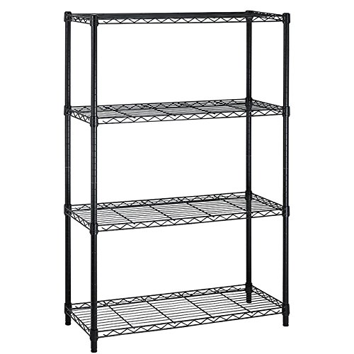 (PayLessHere Black Supreme 4-Tier Shelving Unit 36 by 14 by 54 inches)