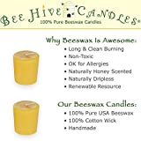 Bee Hive Candles 100% Pure Beeswax Votive Candles