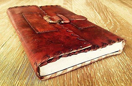 Handolederco Handmade Leather Journal Genuine Leather Notebook Journal Diary Sketchbook Everyday Small Book Vintage leather blank book