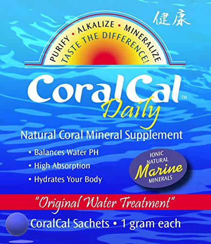 CoralCal Daily by Daily Health | Daily Calcium | Natural Coral Mineral Supplement | Pure, Ionized Coral Minerals from Okinawa, Japan | Alkalizes Water | pH Balancing | 90 Sachets | 3 Month Supply ...