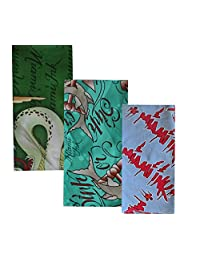 Unisex Bandana Trio Miami Ink Sharks/Logo/Cards 22 Inch
