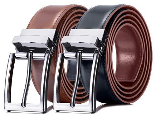 Marino Reversible Leather Belt For Men - Classic Dress Belt 1.25