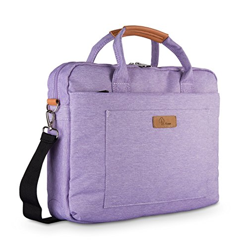 (E-Tree 15.6 inch Laptop Sleeve Handbag for 15 to 15.6 Notebook Shock Proof Ultra Light Weight Oxford Laptop Shoulder Bag Computer Bag Briefcase Purple )