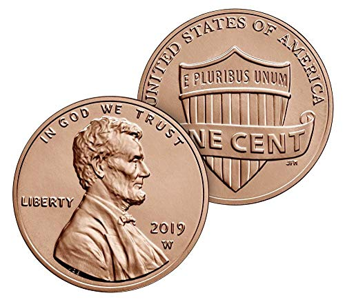 2019 W Lincoln Penny Cent Uncirculated US Mint