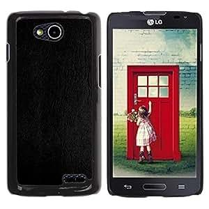 YiPhone /// Prima de resorte delgada de la cubierta del caso de Shell Armor - Gray Leather Texture Wood Grain - LG OPTIMUS L90 / D415